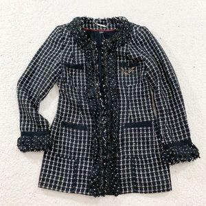 White House black market tweed career blazer